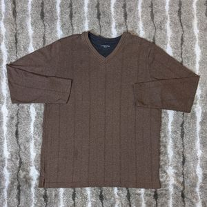 COVINGTON Dual Collar Long Sleeve Sweater